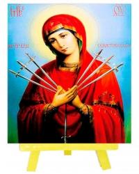 Алмазная Вышивка (мозаика) - Икона - Пресвятой Богородицы Семистрельная (21*25) на картоне