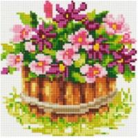 Алмазная Вышивка (мозаика) - Маленький Цветник (20*20)