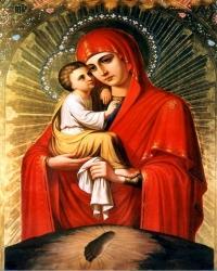 Алмазная Вышивка (мозаика) - Икона - Почаевской Божией Матери (40х50)